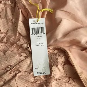 Peach  new with tags BCBG generation lace dress 12